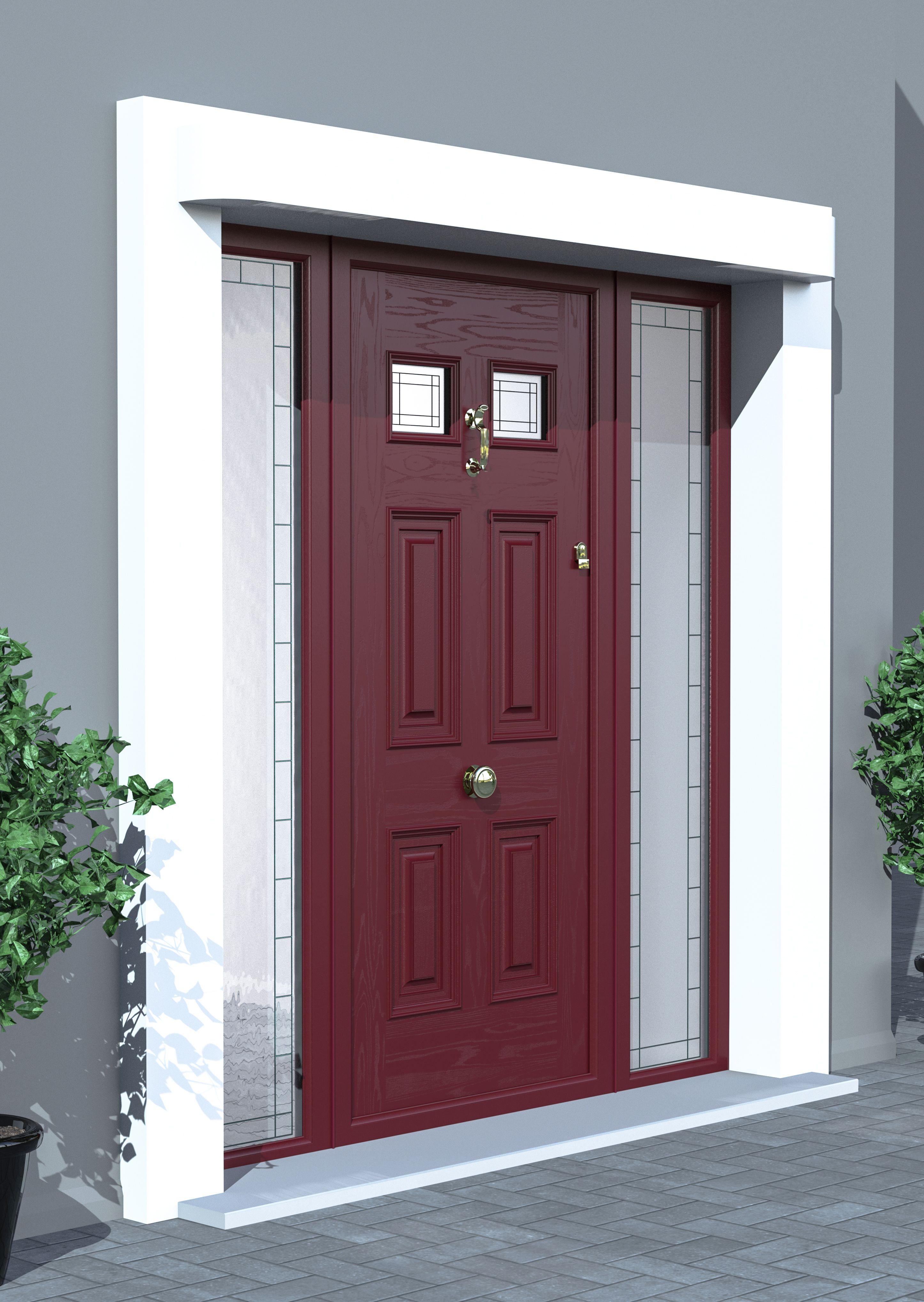 Georgian Burgundy Palladio Composite Door