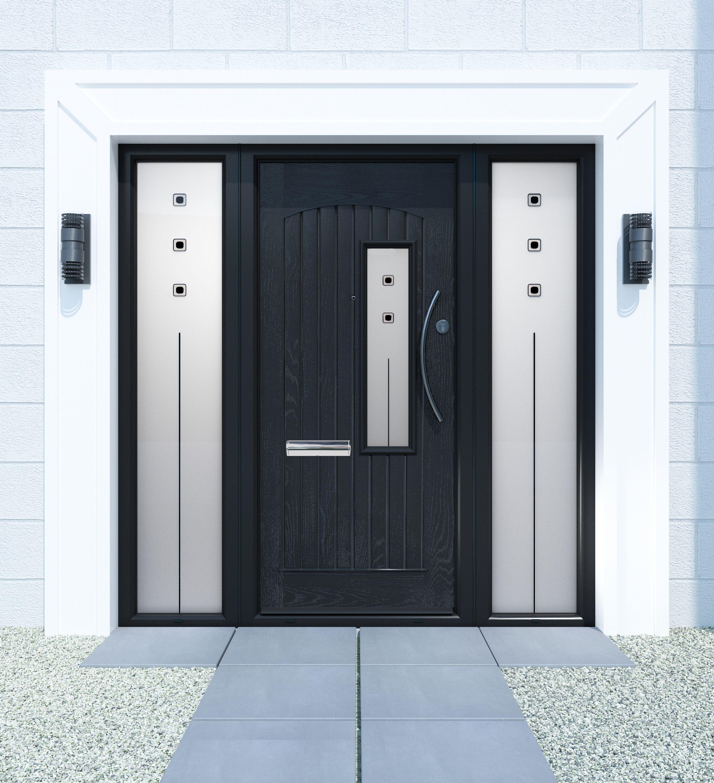 Glasgow Palladio Composite Door in Black
