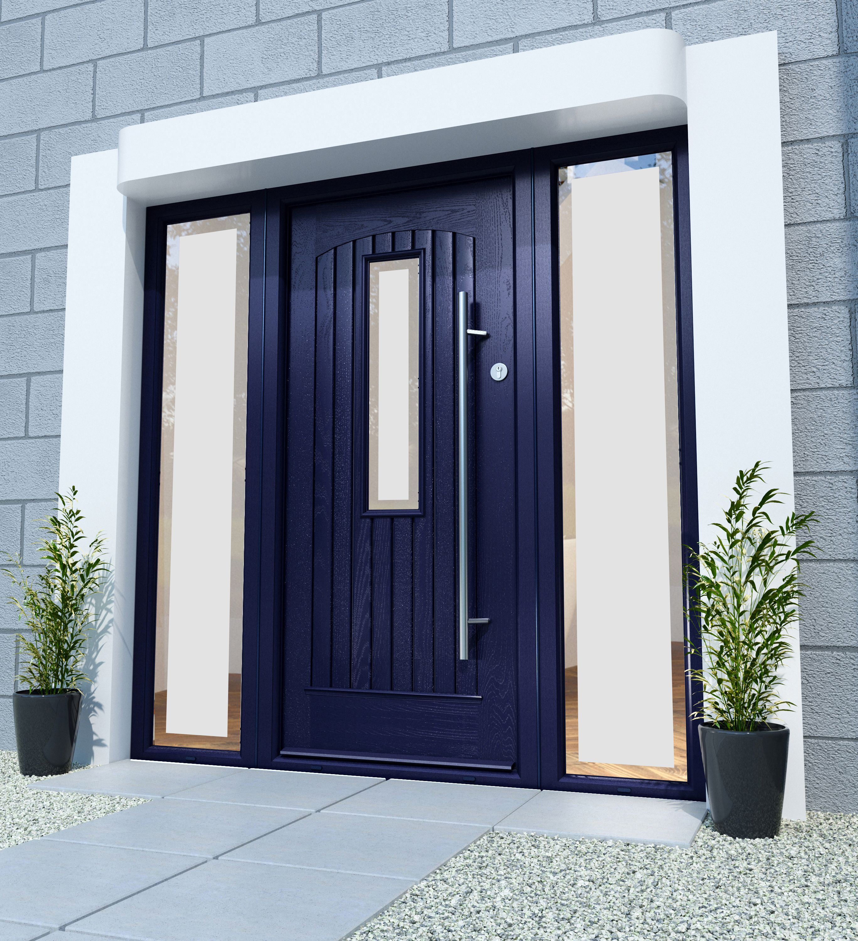 Albany Anthracite Grey Palladio Door