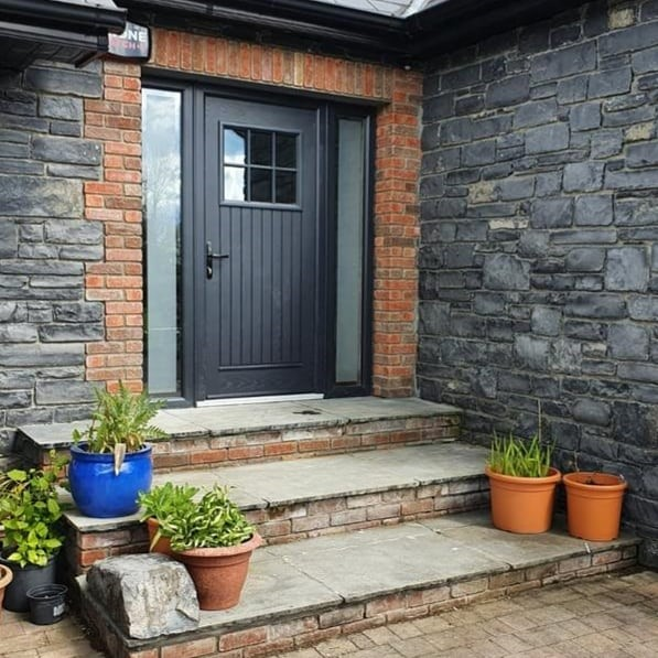 Dublin Anthracite Grey with sidelights